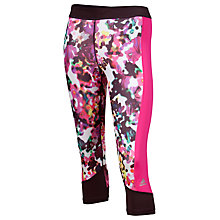 Buy Adidas Techfit Floral Print Capri Tights, Multi Online at johnlewis.com