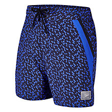 "Buy Speedo Men's Retro Leisure 16"" Watershorts, Black/Purple Online at johnlewis.com"