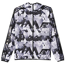 Buy Adidas Response Wind Running Jacket, Black/White Online at johnlewis.com