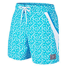 "Buy Speedo Retro Leisure 16"" Watershorts, Blue/White Online at johnlewis.com"