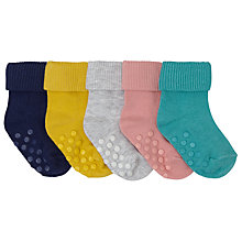 Buy John Lewis Baby Roll Top Socks, Pack of 5, Multi Online at johnlewis.com