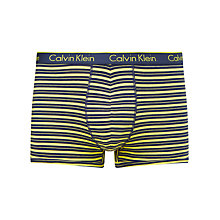 Buy Calvin Klein Underwear CK One Rick Stripe Trunks, Yellow Online at johnlewis.com