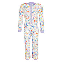 Buy John Lewis Girls' Floral Dino Onesie, Purple Online at johnlewis.com