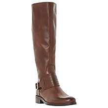 Buy Dune Una Leather Buckle Knee Boots Online at johnlewis.com