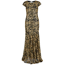 Buy Gina Bacconi Swirl Sequin Maxi Dress, Black/Gold Online at johnlewis.com