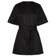 Buy Jaeger Mohair Wool Belted Duster Coat, Black Online at johnlewis.com