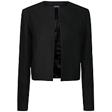 Buy Jaeger Cropped Occasion Jacket, Black Online at johnlewis.com