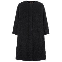 Buy Jaeger Wool Mohair Cocoon Coat, Black Online at johnlewis.com