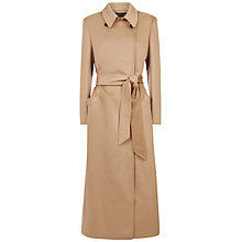 Buy Jaeger Wool Longline Belted Coat, Camel Online at johnlewis.com