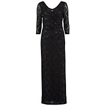 Buy Gina Bacconi Long Sequin Wrap Lace Dress, Black Online at johnlewis.com
