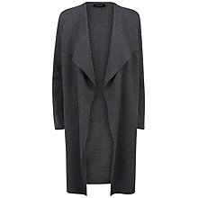 Buy Jaeger Longline Wool Cardigan, Charcoal Online at johnlewis.com