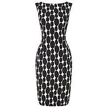 Buy Phase Eight Orla Oval Jacquard Dress, Black/Ivory Online at johnlewis.com