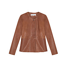 Buy Gerard Darel Short Leather Jacket, Camel Online at johnlewis.com