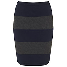 Buy Phase Eight Lia Stripe Knit Skirt, Navy/Grey Online at johnlewis.com