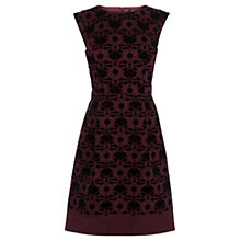 Buy Oasis Flocked Nuveau Skater Dress, Multi Online at johnlewis.com