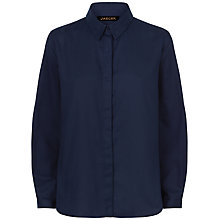 Buy Jaeger Basketweave Cotton Shirt, Midnight Online at johnlewis.com