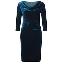 Buy Precis Petite Cowl Velvet Dress, Teal Online at johnlewis.com