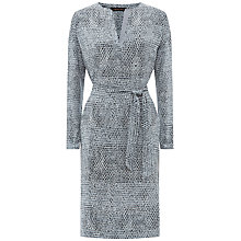 Buy Jaeger Silk Stitch Print Tunic Dress, Grey Online at johnlewis.com