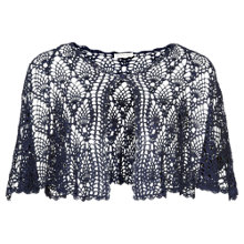 Buy Jacques Vert Crochet Cape, Navy Online at johnlewis.com