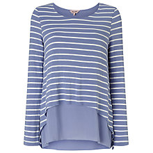 Buy Phase Eight Cera Layer Top, Pitch Blue/White Online at johnlewis.com