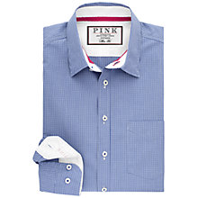 Buy Thomas Pink Longitude Check Slim Fit Shirt, Blue/White Online at johnlewis.com