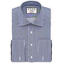 Buy Thomas Pink Grant Slim Fit Double Cuff XL Sleeve Stripe Shirt Online at johnlewis.com