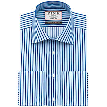 Buy Thomas Pink Gibson Double Cuff Stripe Classic Fit Shirt Online at johnlewis.com