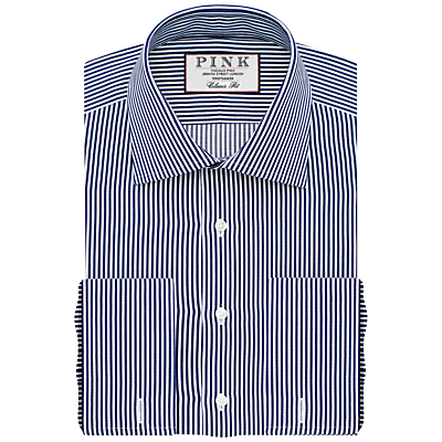 Image of Thomas Pink Grant Classic Fit XL Sleeve Double Cuff Stripe Shirt