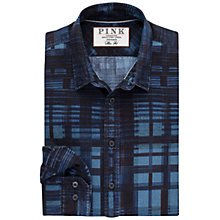 Buy Thomas Pink Leon Print Slim Fit Shirt, Blue/Black Online at johnlewis.com