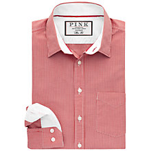 Buy Thomas Pink Longitude Check Slim Fit Shirt, Red/White Online at johnlewis.com