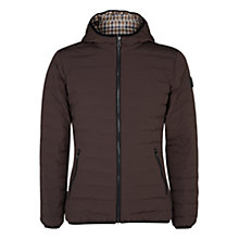 Buy Aquascutum Paine Down Filled Puffa Jacket, Brown Online at johnlewis.com