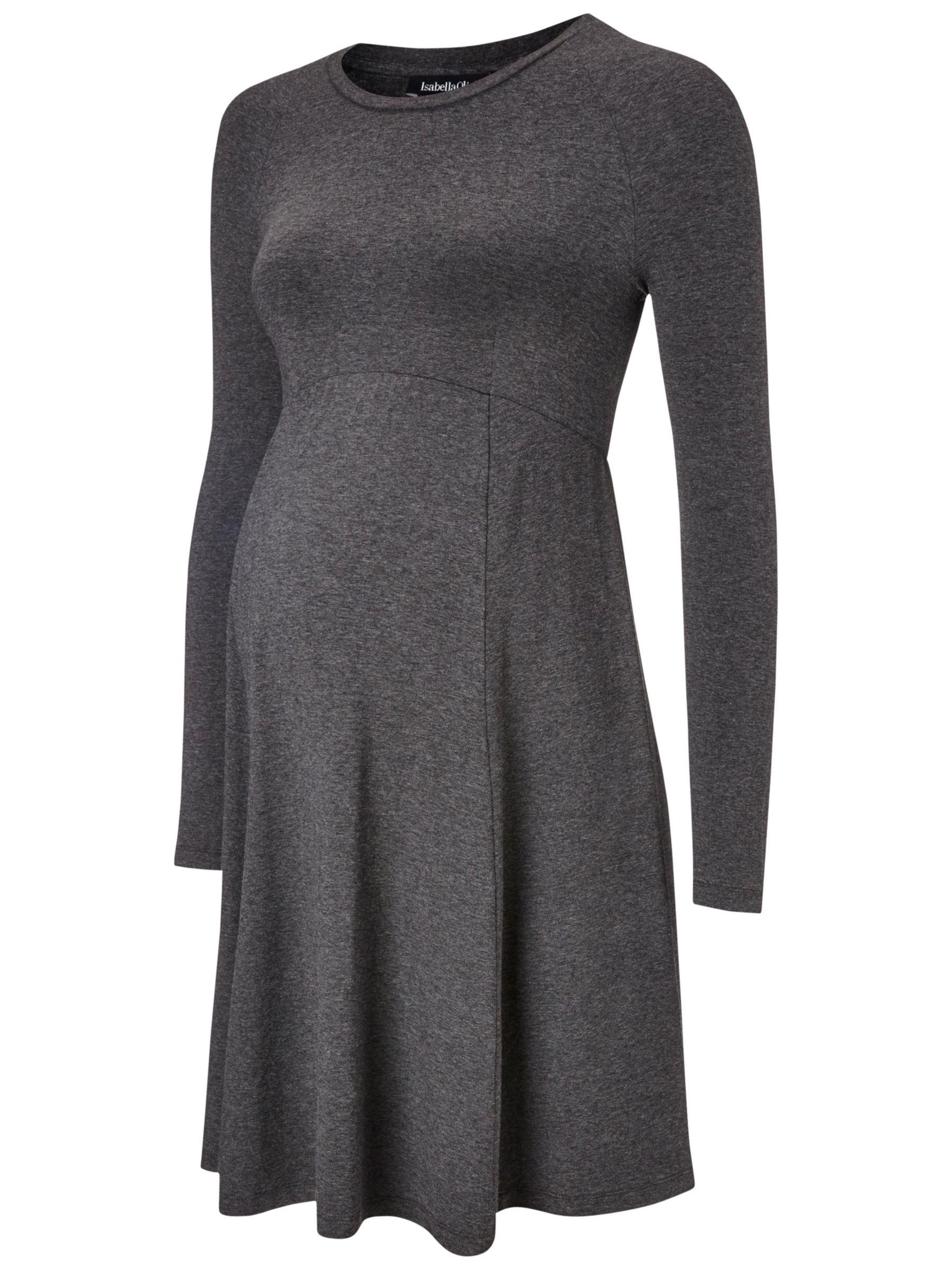 Isabella Oliver Isabella Oliver Danbury Maternity Dress, Dark Grey Melange