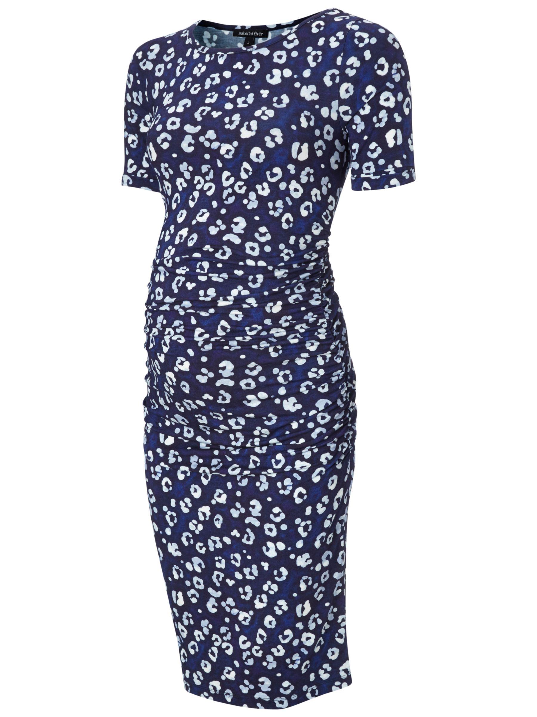 Isabella Oliver Isabella Oliver Robson Print Maternity Dress, Blue/Multi