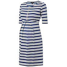 Buy Isabella Oliver Beaumont Stripe Maternity Dress, Navy/White Online at johnlewis.com