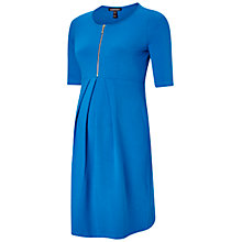 Buy Isabella Oliver Earlham Zip Maternity Nursing Dress, Blue Online at johnlewis.com