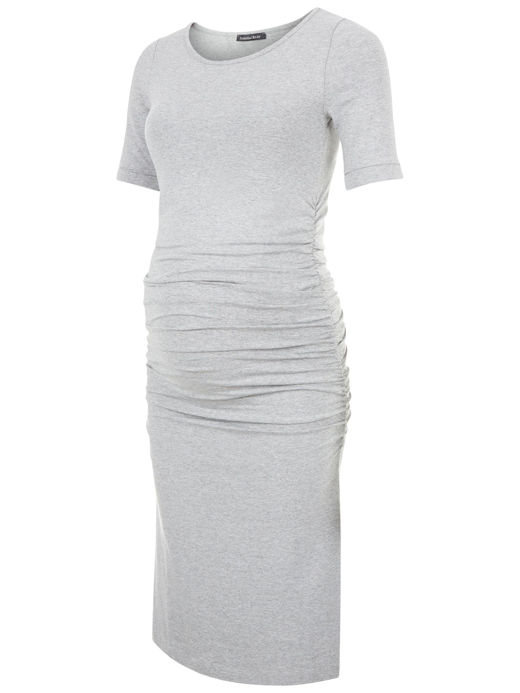 Isabella Oliver Isabella Oliver Ruched T-Shirt Dress, Grey