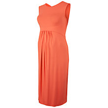 Buy Isabella Oliver Coraline Maternity Midi Dress, Coral Online at johnlewis.com