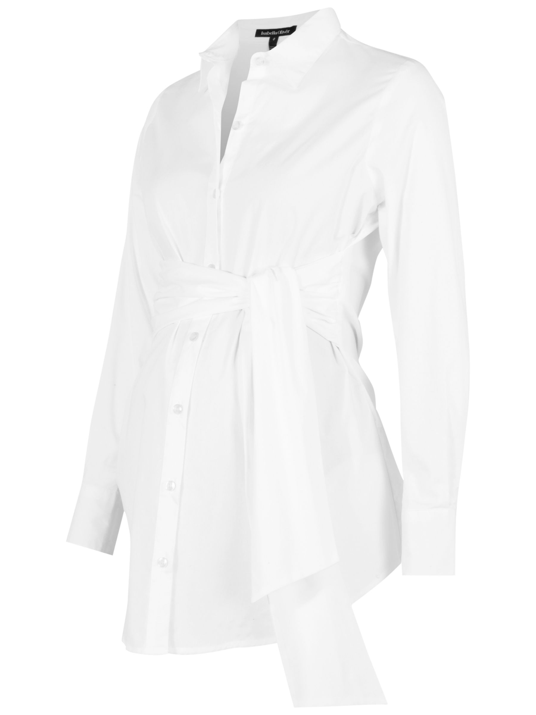 Isabella Oliver Isabella Oliver Tie Front Maternity Shirt, White
