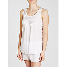 Buy John Lewis Shadow Stripe Cami And Short Set, White Online at johnlewis.com