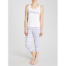 Buy John Lewis Beautiful Dreams Stitch Floral Pyjama Set, Blue/White Online at johnlewis.com