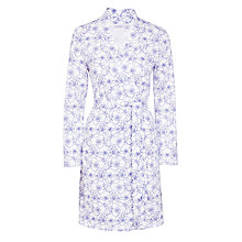 Buy John Lewis Stitch Floral Robe, White/Blue Online at johnlewis.com
