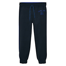Buy Mango Kids Boys' Contrast Trim Jogger Trousers, Black Online at johnlewis.com