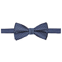 Buy John Lewis Boys' Pinspot Bow Tie, Blue/White Online at johnlewis.com