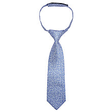 Buy John Lewis Boys' Ditsy Floral Tie, Blue/White Online at johnlewis.com