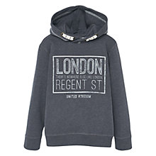 Buy Mango Kids  Boys' London Print Hoodie, Grey Online at johnlewis.com