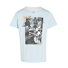 Buy Converse Boys' Shoe Selfie T-Shirt, Blue Online at johnlewis.com