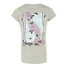 Buy Converse Girls' Floral Sneaker T-Shirt Online at johnlewis.com