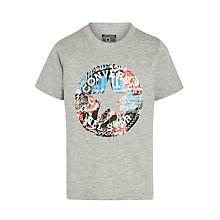 Buy Converse Boys' Chuck Fill T-Shirt, Grey Online at johnlewis.com
