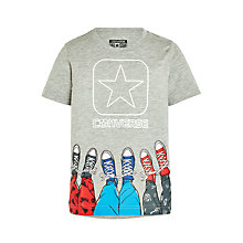 Buy Converse Boys' Star Shoes T-Shirt, Grey Online at johnlewis.com