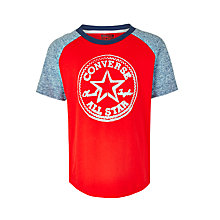 Buy Converse Boys' Colour Block Raglan T-Shirt, Red Online at johnlewis.com